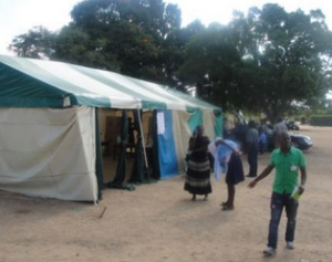 Polling station in Harare