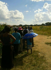 Queue at a voting station